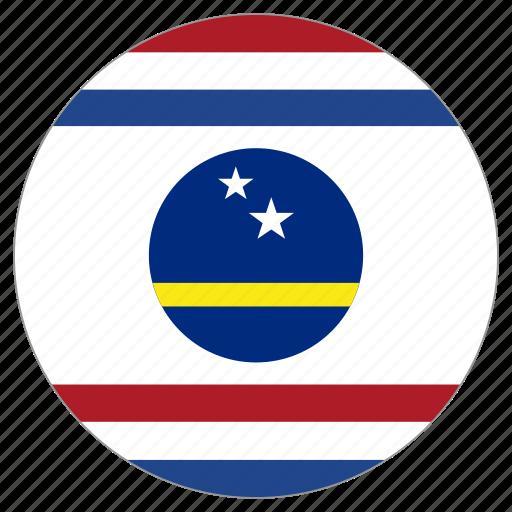 circle, country, curacao, flag icon