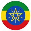 circle, country, ethiopia, flag icon