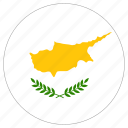 circle, country, cyprus, flag