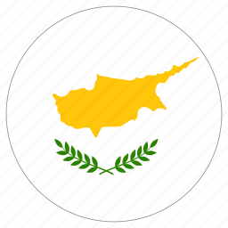 circle, country, cyprus, flag icon