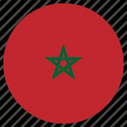 circle, country, flag, morocco icon