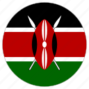 circle, country, flag, kenya icon