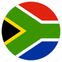 circle, country, flag, south africa icon