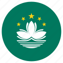 circle, country, flag, macau icon