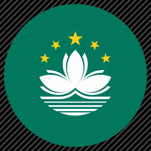 circle, country, flag, macau icon