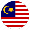 circle, country, flag, malasia icon