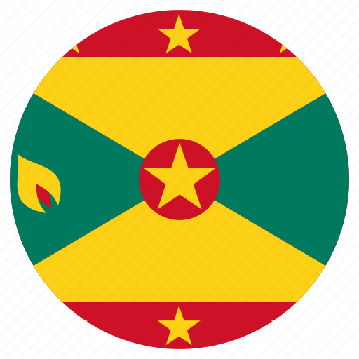 circle, country, flag, grenada icon