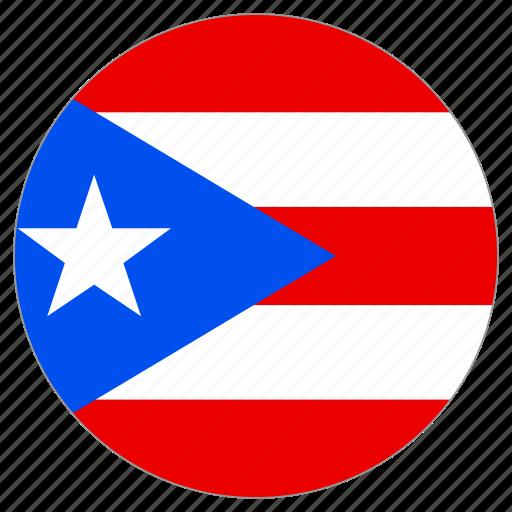 circle, country, flag, puerto rico icon