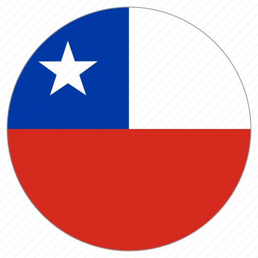 chile, circle, country, flag icon
