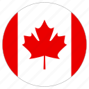 canada, country, circle, flag