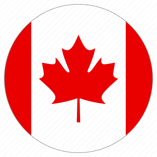 canada, circle, country, flag icon