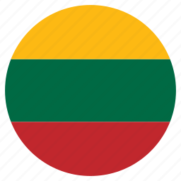 circle, country, flag, lithuania icon
