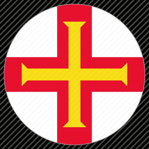 circle, country, flag, guernsey icon