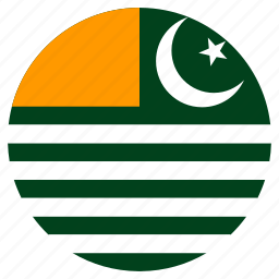 azad kashmir, circle, country, flag icon