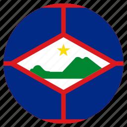 circle, country, flag, sint eustatius icon
