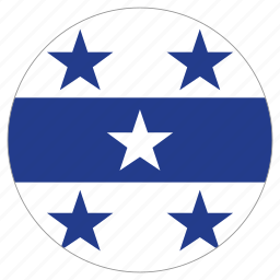 circle, country, flag, gambier islands icon