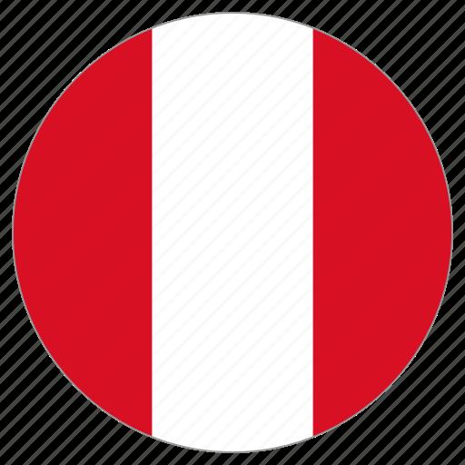 circle, country, flag, peru icon