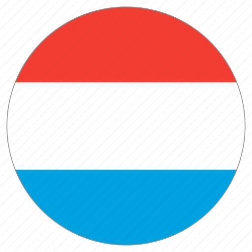 circle, country, flag, luxembourg icon
