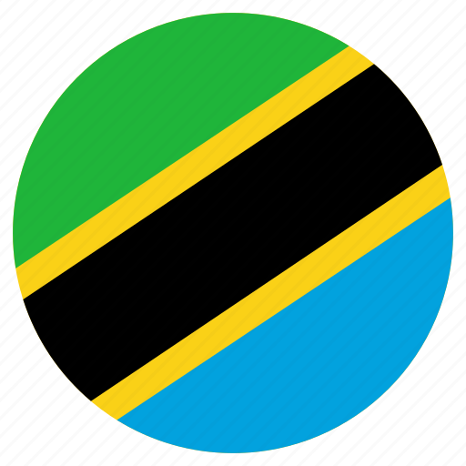 circle, country, flag, tanzania icon