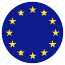 circle, country, european union, flag icon