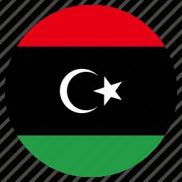 circle, country, flag, libya icon