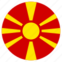 circle, country, flag, macedonia icon