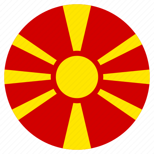 circle, country, flag, macedonia icon