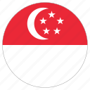 country, circle, flag, singapore