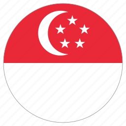 circle, country, flag, singapore icon