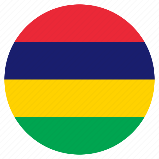 circle, country, flag, mauritius icon