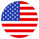 country, circle, flag, usa