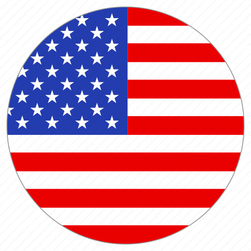 circle, country, flag, usa icon