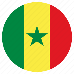 circle, country, flag, senegal icon