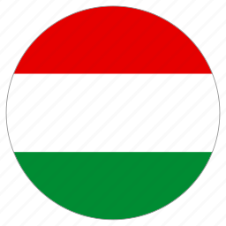 circle, country, flag, hungary icon