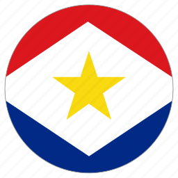 circle, country, flag, saba icon