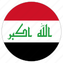 circle, country, flag, iraq icon