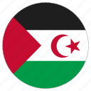 circle, country, flag, sahrawi arab democratic republic, world icon