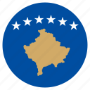 circle, country, flag, kosovo, world icon