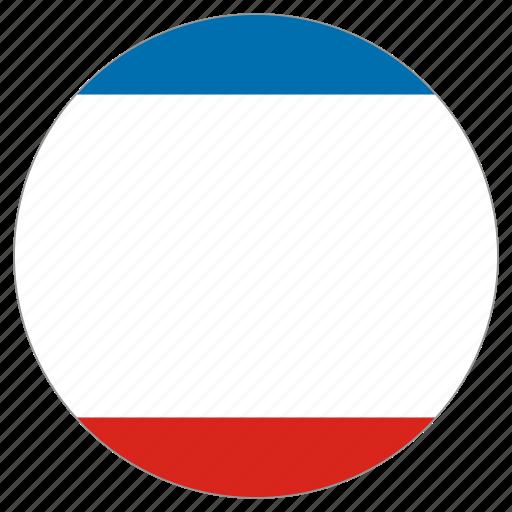 circle, country, crimea, flag, world icon
