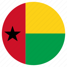 circle, country, flag, guinea bissau, world icon