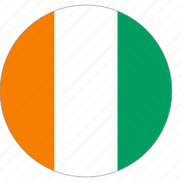 circle, cote divoire, country, flag, world icon