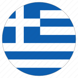 circle, country, flag, greece, world icon