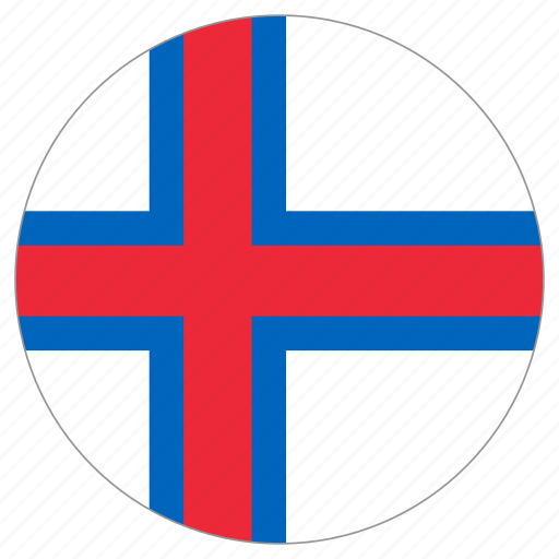 circle, country, faroe islands, flag, world icon