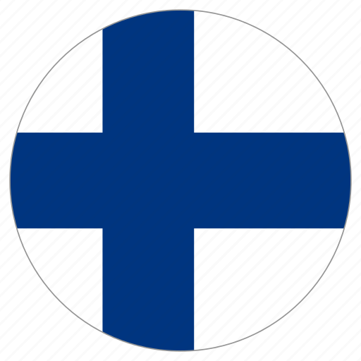 circle, country, finland, flag, world icon