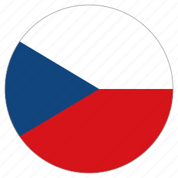 circle, country, czech republic, flag, world icon