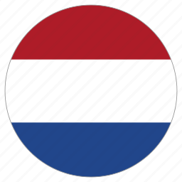 circle, country, flag, netherlands, world icon