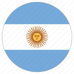 argentina, circle, country, flag, world icon