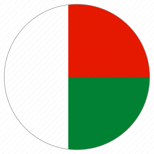 circle, country, flag, madagascar, world icon
