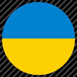 circle, country, flag, ukraine, world icon