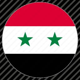 circle, country, flag, syria, world icon